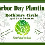 Arbor Day Tree Planting green writing with trees