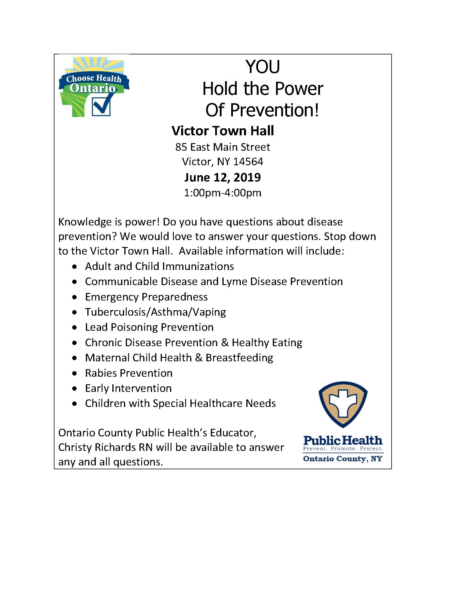 You Hold the Power of Prevention flyer 06122019