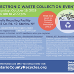 E-Waste Event flyer 10192019 blue recycle box with broken tvs