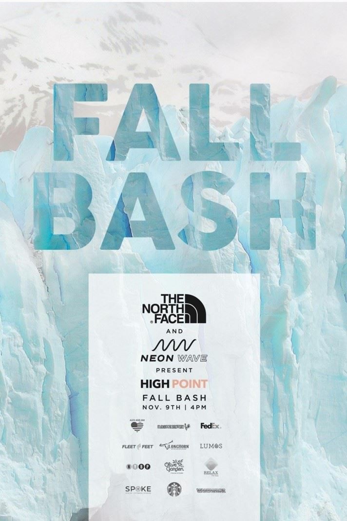 Fall Bash High Point flyer snow background