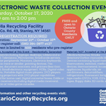E-Waste Event flyer - October 17 2020