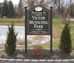 Victor Municipal Park Sign