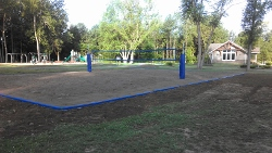 New volleyball court