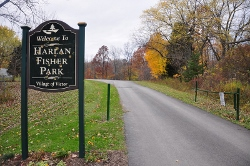 Harlan Fisher Park Sign